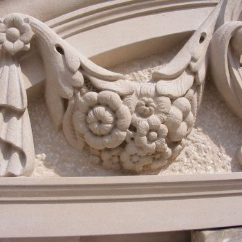 Detail-from-a-decorated-pediment-in-Portland-stone-for-a-new-facade-in-Pall-Mall