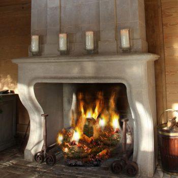 Baronial-Stone-Fireplace-in-Antiqued-Massangis-Jaunne-French-Limestone-(5)