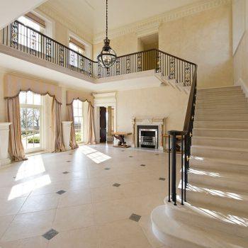 Cantilever-Staircase-in-Moca-Creme-Limestone