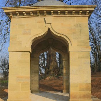 Private-Memorial-in-West-Sussex-Sandstone-and-Basalt-dome-(3)