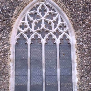 New-tracery-window-All-Saints-Church,-Boughton-Aluph