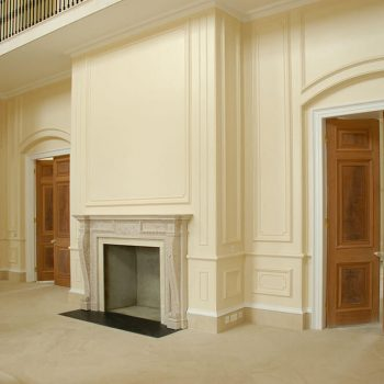 Private-Residence,-Hampshire---Flooring-and-skirting-to-main-entrance-and-hall-in-Valdenod-Sully-Clair-Runave-stone